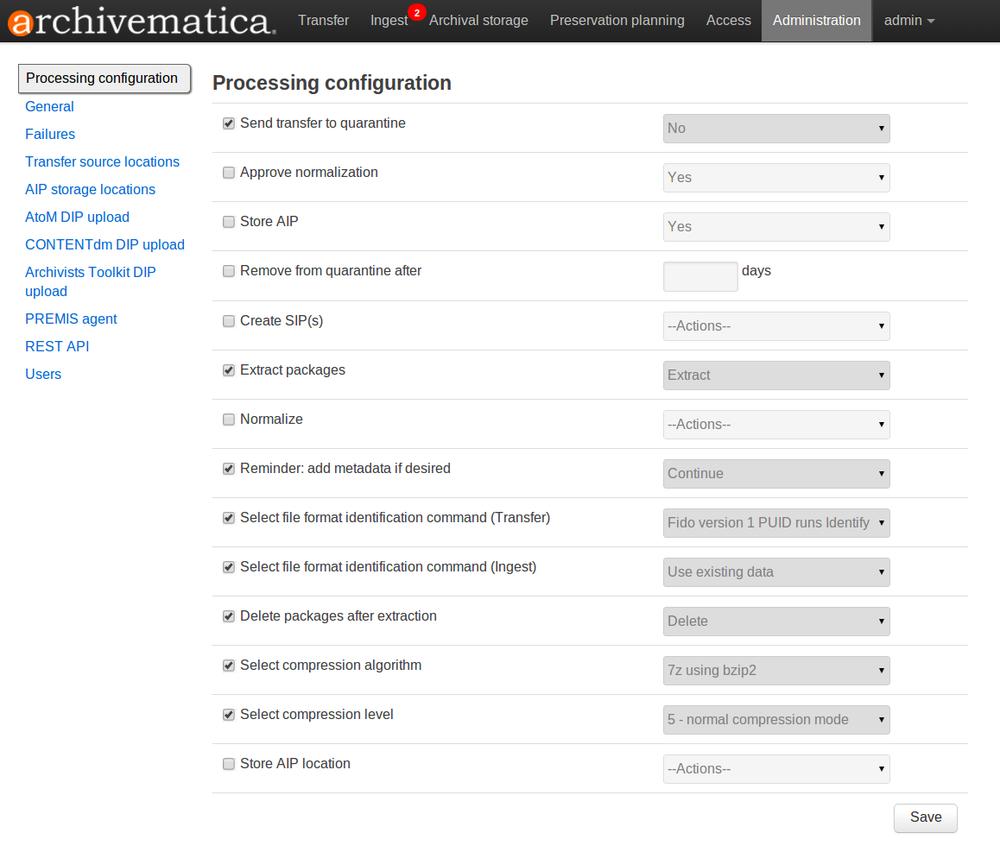 Administrator manual 1 1 - Archivematica